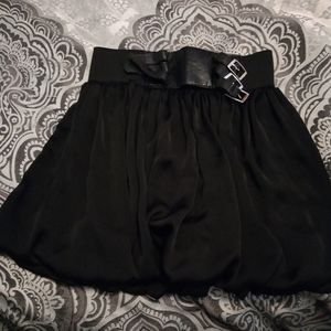 Max rave black mini skirt